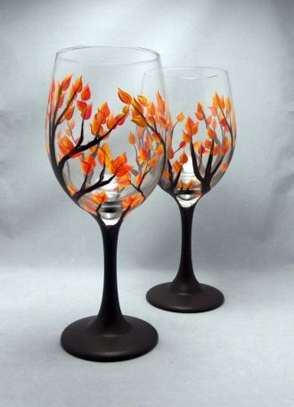 Painted Wineglass